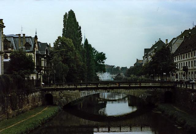 Straßburg 1987 (02) Pont de la Poste