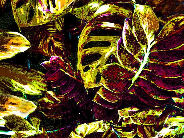 Nestling leaves