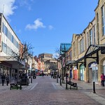 Nearly empty Friargate in Preston
