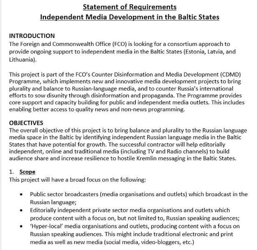 Nouveau programme du ministère britannique des Affaires étrangères