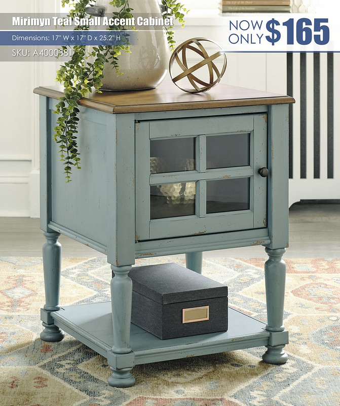 Mirimyn Teal Small Accent Cabinet_A4000381
