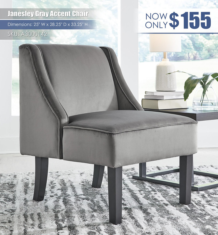 Janesley Gray Accent Chair_A3000142