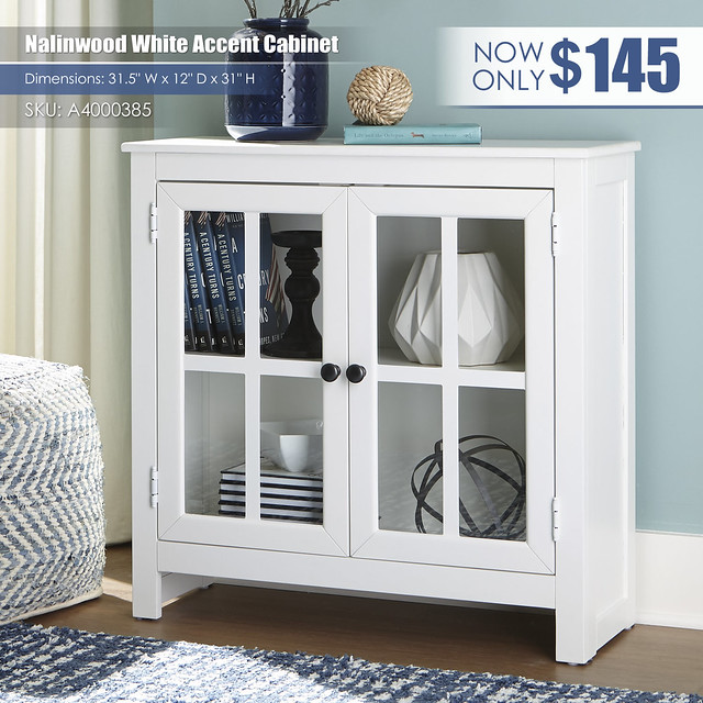 Nalinwood White Accent Cabinet_A4000385