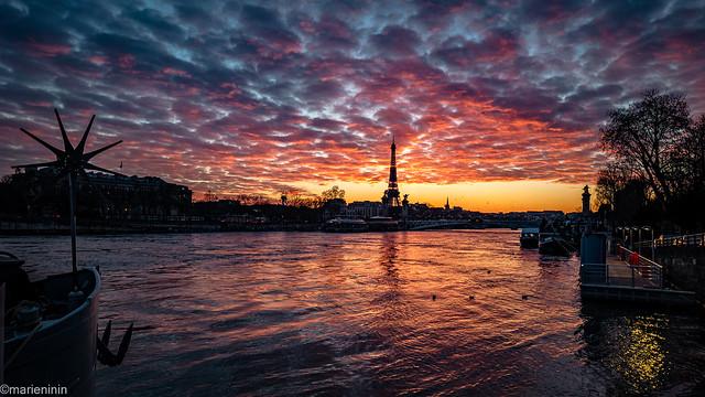 February 2021 - Sunset in Paris