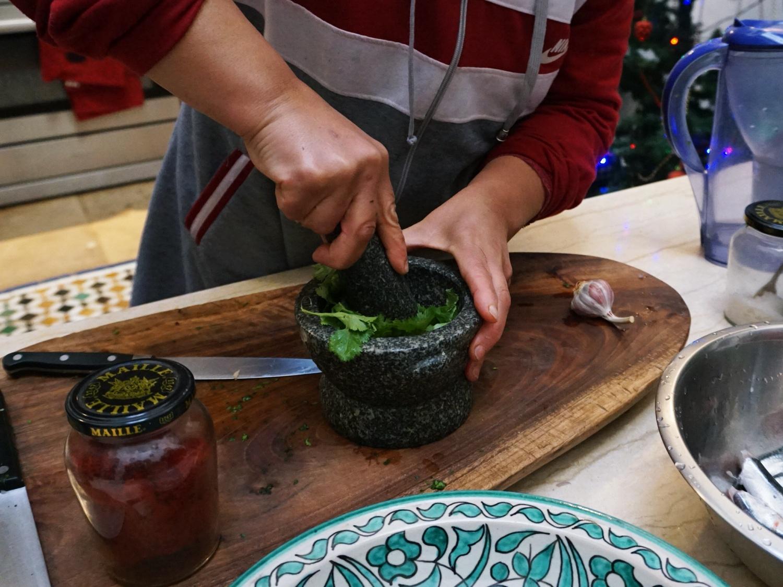 Chermoula sardines sauce