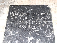 Here lyeth the body of Margery Lewys