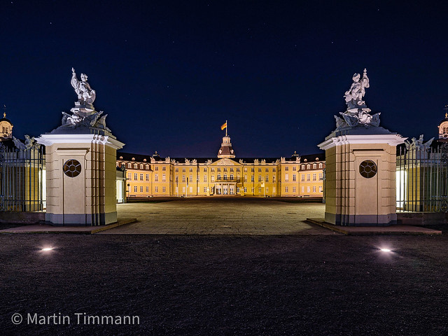 Castle Karlsruhe at night