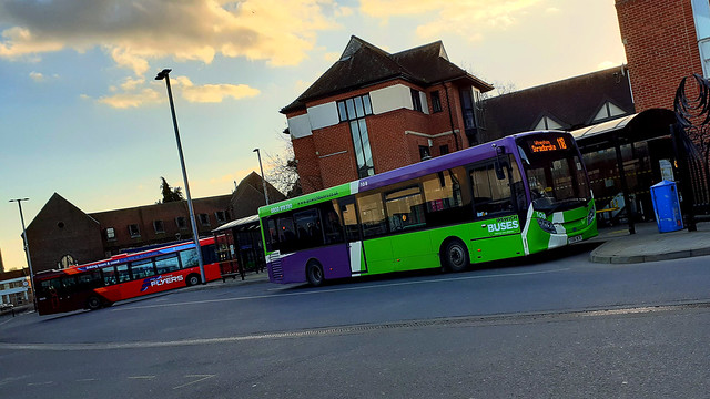 YX66 WCM - Ipswich Buses ADL Enviro 200 108 - waiting to depart the Old Cattle Market Bus Station - Friday 26th  February 2021