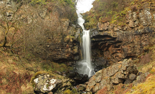 Waterfall on the Banton Burn in the Kilsyth Hills near the Tak-Ma-Doon Rd.