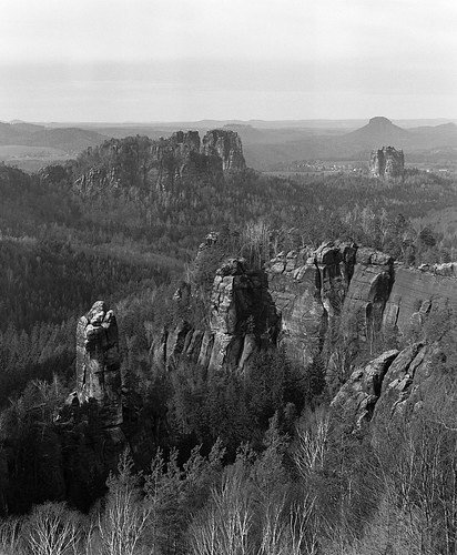 outside hiking germany sächsischeschweiz mountains landscape bw analog rb67 mamiya fp4 view