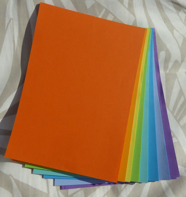 Rainbow notepaper pad