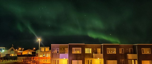 Northern lights the same day all the earthquakes began in Reykjanes peninsula.