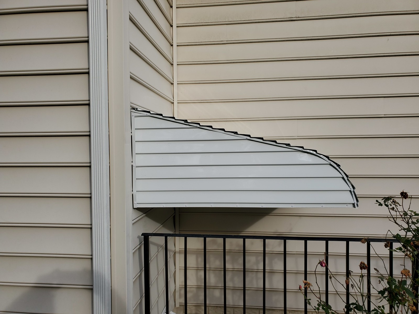 Hoffman Manufactured Aluminum Stairwell  Awning