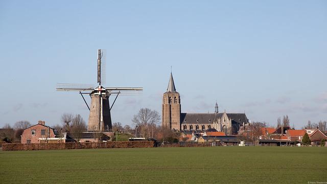 Wouw met molen De Arend