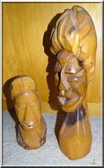 Wood sculptures from Nassau, Bahamas
