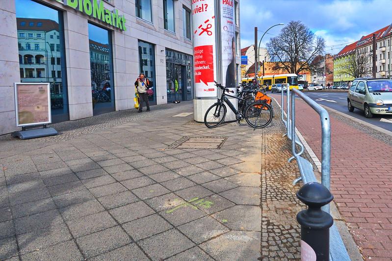 Wartebügel für Radfahrer