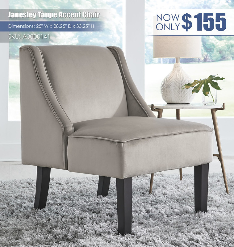 Janesley Taupe Accent Chair_A3000141