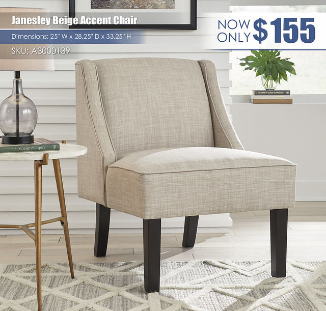 Janesley Beige Accent Chair_A3000139