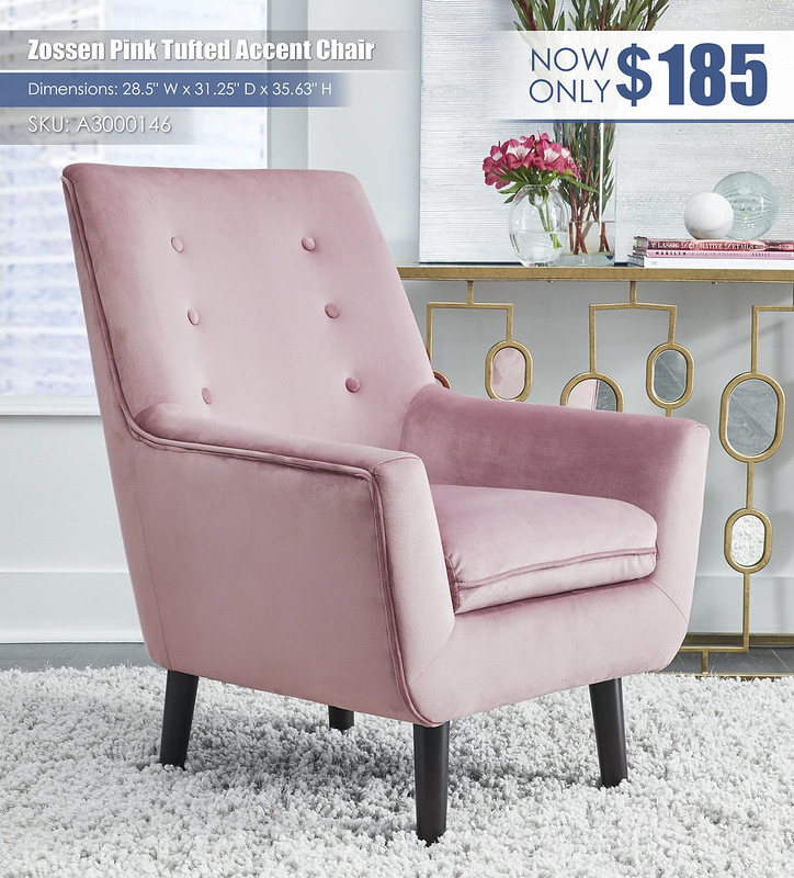 Zossen Pink Accent Chair_A3000146