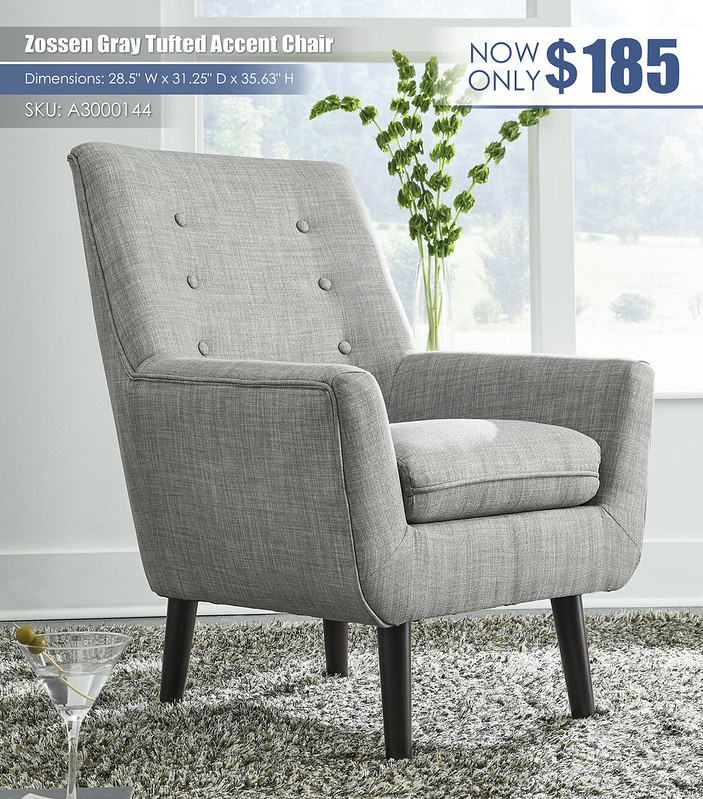 Zossen Gray Accent Chair_A3000144