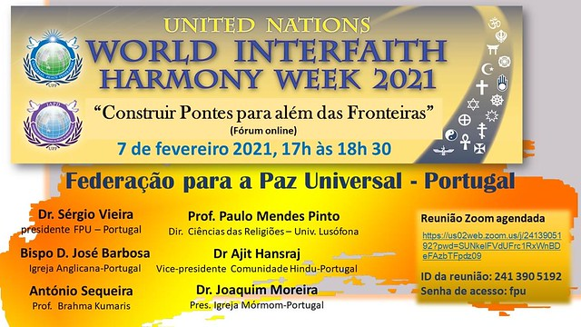 Portugal-2021-02-07-World Interfaith Harmony Week Observed in Portugal