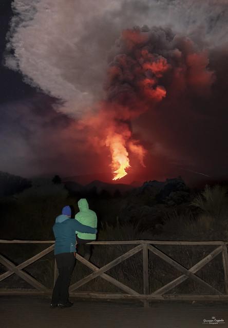 Etna in eruzione, spettacolo allo stato puro...
