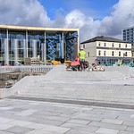 The new paved area at the UCLan will soon be ready
