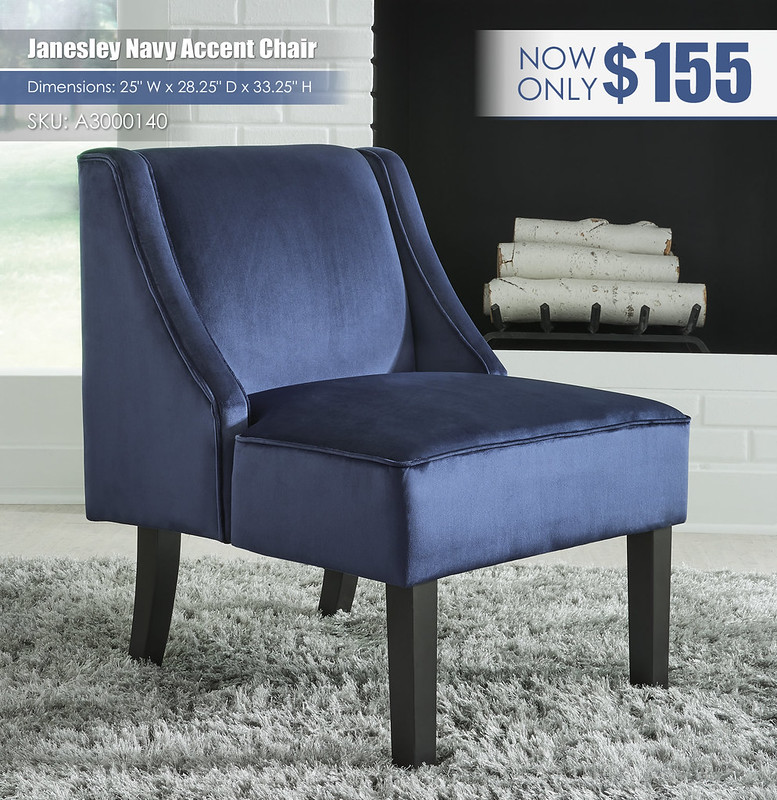 Janesley Navy Accent Chair_A3000140