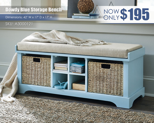 Dowdy Blue Storage Bench_A3000121