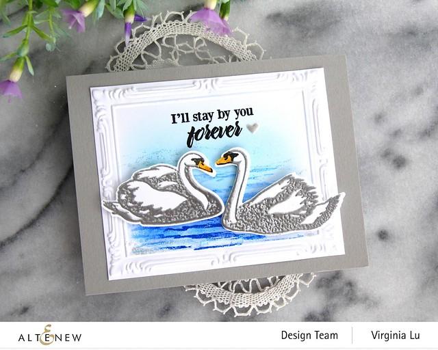 Altenew-Modern Swan Stmap & Die Bundle-Simple Frame Embossing Folder -002