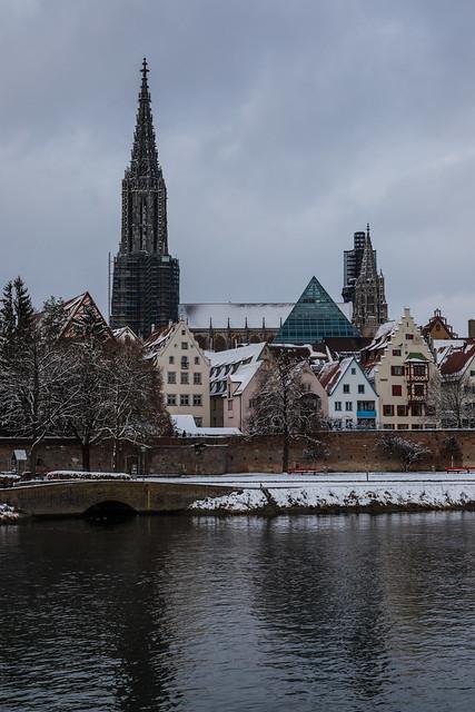 Das Ulmer Münster im Schnee