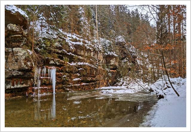 Winter im Polenztal