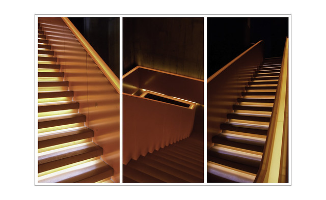 Triptychon einer Treppe