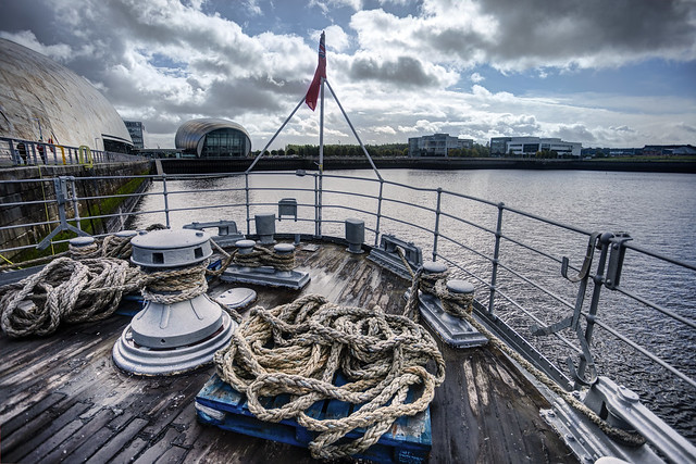 On Deck of TS 'Queen Mary', River Clyde, Glasgow