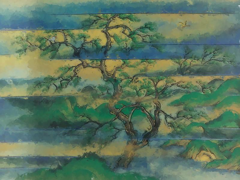 『桑実寺縁起』(くわのみでらえんぎ) 上巻 第1段の絵図の模写 太初の桑の巨木