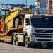 Volvo FM 500 road roller transporter