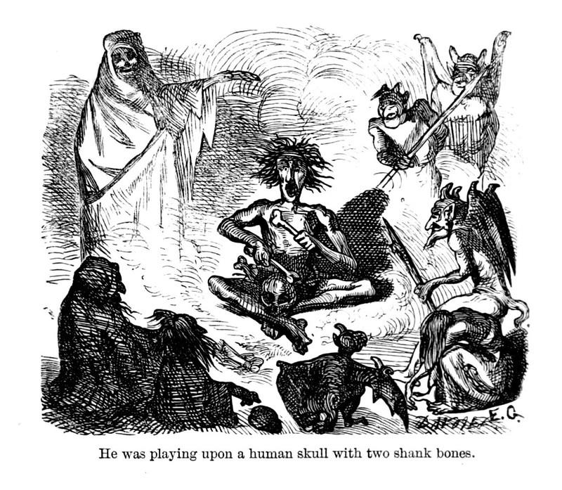 "Ernest Griset - Illustrations from Richard Francis Burton's ""Vikram and the Vampire"" 1870 (10)"