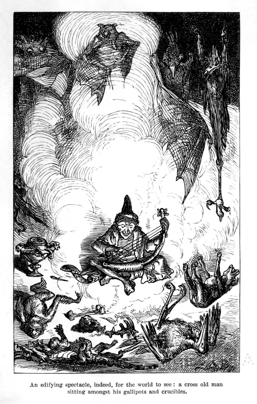 "Ernest Griset - Illustrations from Richard Francis Burton's ""Vikram and the Vampire"" 1870 (05)"