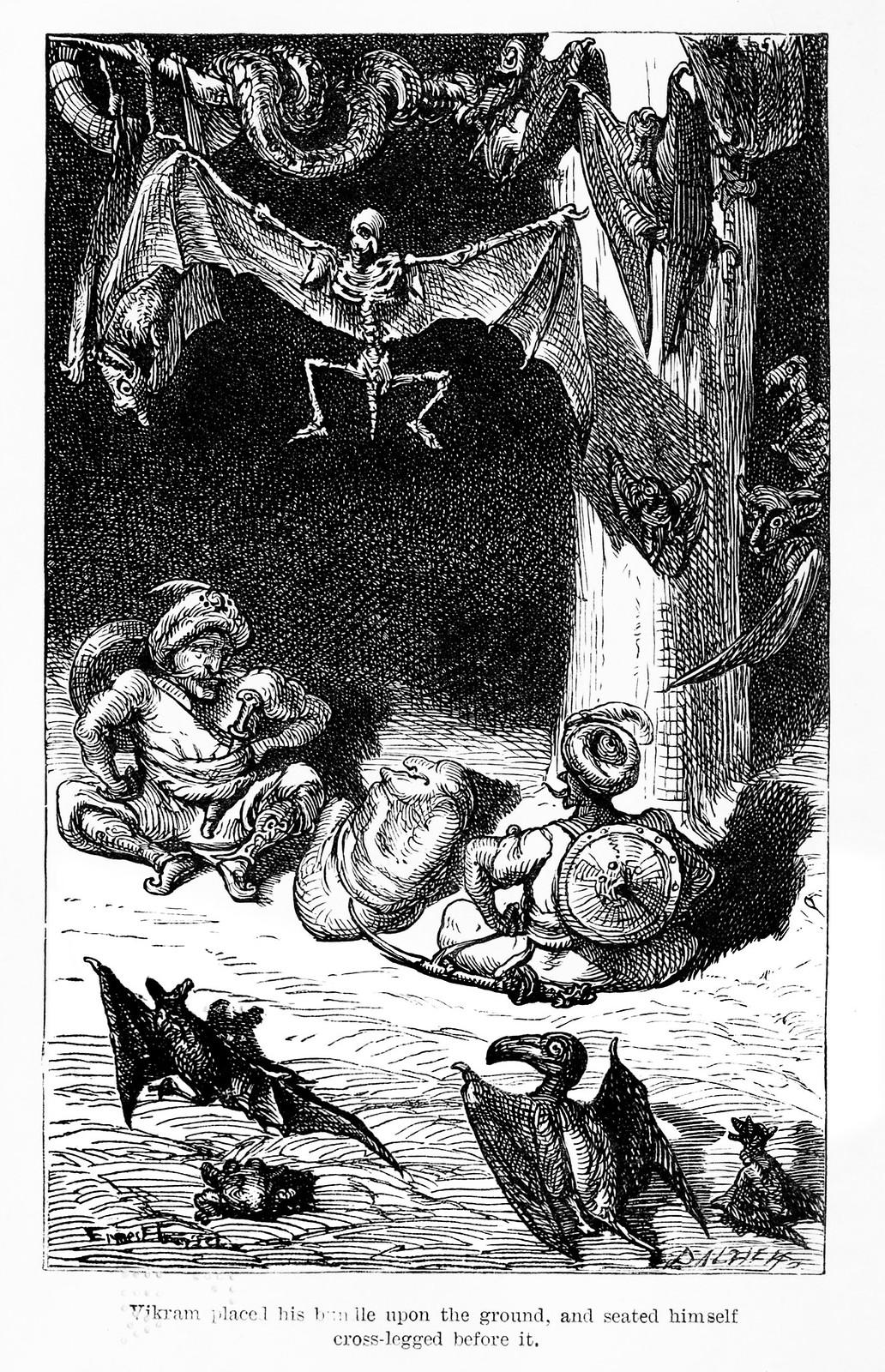 "Ernest Griset - Illustrations from Richard Francis Burton's ""Vikram and the Vampire"" 1870 (01)"