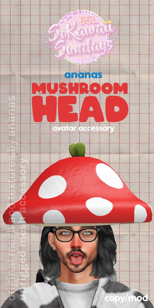 🍄 Ananas / Mushroom Head For SoKawaiiSundays!