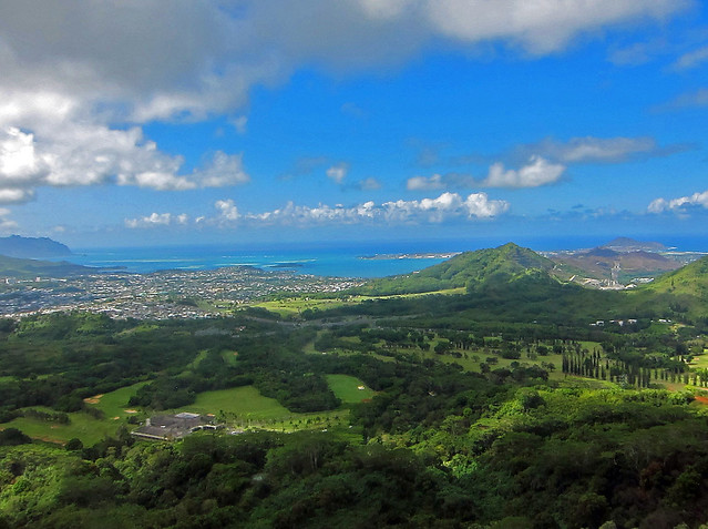 The View from Nuuanu Pali Lookout - Oahu