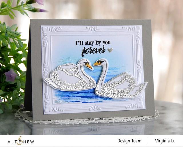 Altenew-Modern Swan Stmap & Die Bundle-Simple Frame Embossing Folder