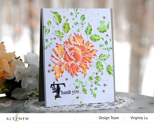 Altenew-Majestic Bloom Embossing Folder-Once Upon a Time Stamp Set -001