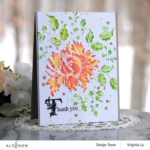 Altenew-Majestic Bloom Embossing Folder-Once Upon a Time Stamp Set