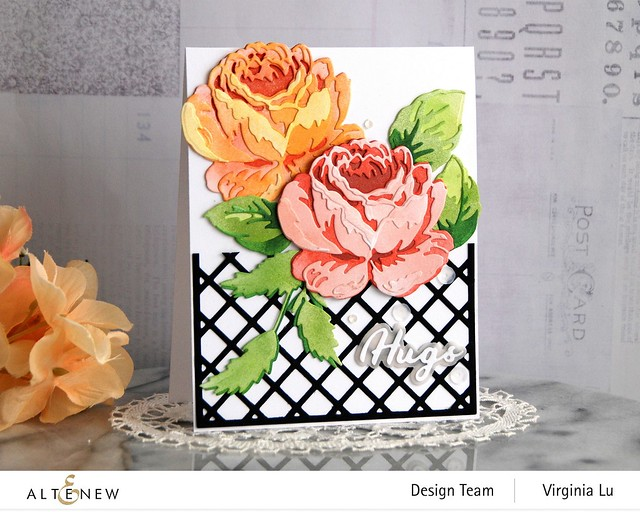 Altenew-CAF Antique Rose-Garden Trellis Cover Die-Simple Greetings Die Set