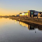 Sunlit Preston Docks