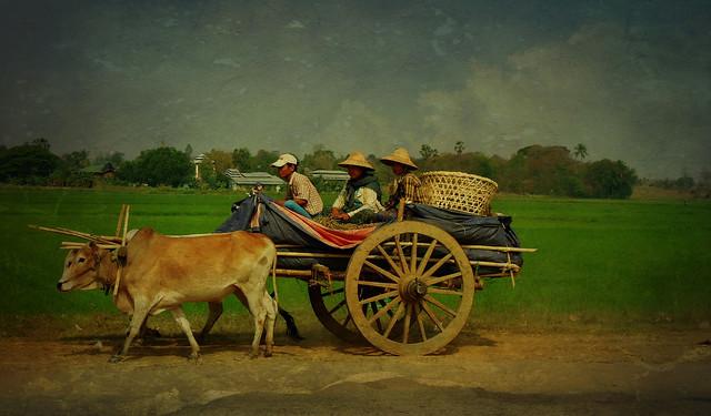 MYANMAR ,Burma - Unterwegs nach Bagan,am Rande der Hauptstadt - Gegensätze , man glaubt es kaum, 78203/13429