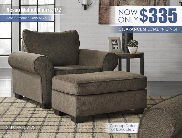 Nesso Walnut Chair & Half_49102-23-14_2021_New