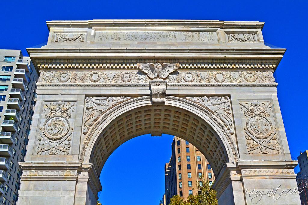The Arch in Washington Square Park Greenwich Village Manhattan New York City NY P00816 DSC_0894