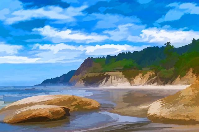 Oregon Coastline near Otter Rock